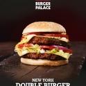 Der New York Doubleburger als Aushängeschild von Burger Palace