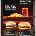 Fastfood Thekenschild- Qualität zu fairen Preisen