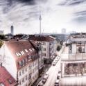 Der Blick über Berlin von unserer Dachterrasse des fantastischen Hotel Ammanos