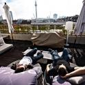 Hier auf der Dachterrrasse konnte man sich nach einem anstrengenden Tag Architekturfotografie erholen