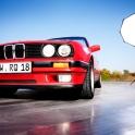 Auch ein alter BMW entwickelt auf Werbefotos viel Charme