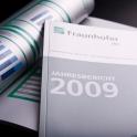Die Printdesigner der Werbeagentur SIlberfalke haben den Geschäftsbericht 2009 für das Fraunhofer Institut INT erstellt