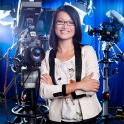 Für unsere Profifotografen die beste Location: Das Fernsehstudio