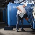 Industriefotografie im Kompressorraum für die Webpräsenz von TIS Erftstadt