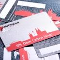 Die Michels Card für Privatkunden gewährt dem Besitzer ein Leben lang 5% Rabatt beim Einkauf bei Michels Raumideen.