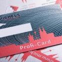 Für Handwerker-Kunden gibt es neben der silbernen Michels Card auch die schwarze Profi Card. Beide wirken edel und wertig.