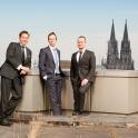 Unternehmensfotografie mit Blick auf den Kölner Dom