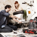 Bei diesem Fotoshooting stand nicht nur der neue Werkzeugkoffer von Meister Werkzeuge im Mittelpunkt.