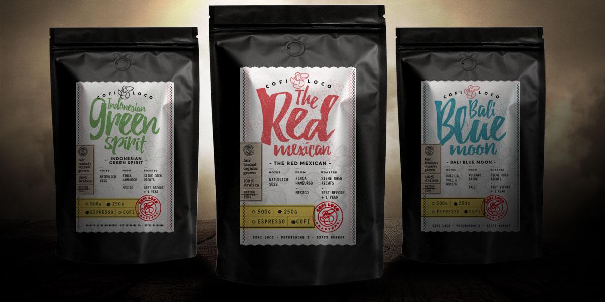Packaging für Kaffeeverpackungen Retail