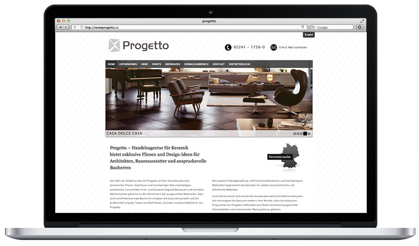 progetto webseite webdesign