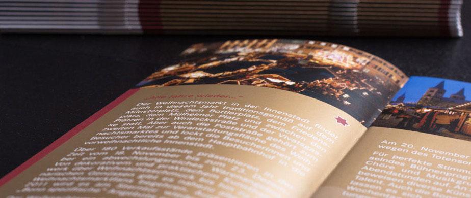 Weihnachtsmarkt Broschüre Stadt Bonn Design