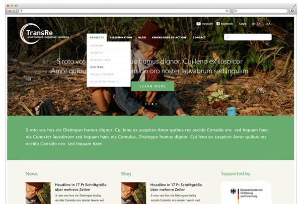 Projektwebseite für Forschungsprojekt