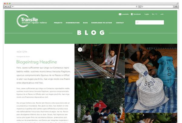 Blog Detail Ansicht