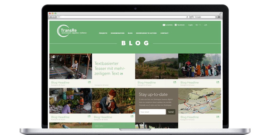 TransRe Webseiten Design