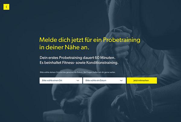 Online Anmeldung zum Probetraining