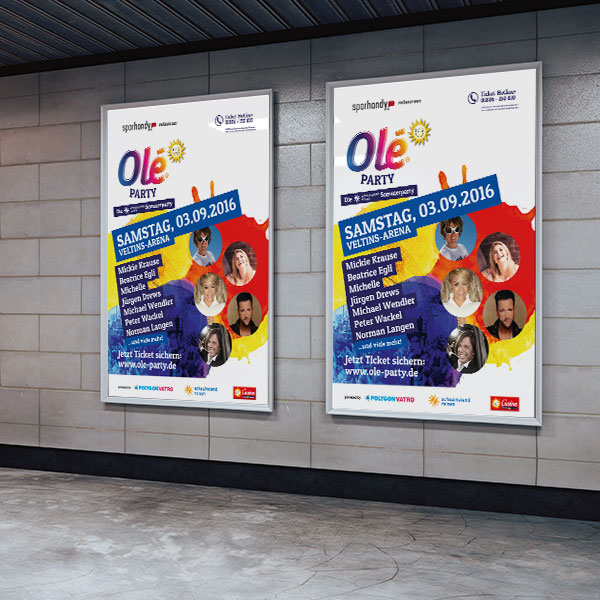 Plakat Werbung Design